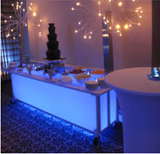 party rental las vegas bar illuminated buffet table led cordless rebel party rentals