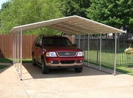 Single Car Garage Size Exterior Ideas Carports Metal Carport Kits Garage Kits Metal