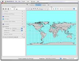 World Map With Longitude And Latitude Lines by Intro To My World