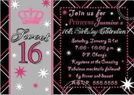 Sweet 16 Invitation Templates Free blank sweet 16 invitation templates luxury 16 birthday invitations