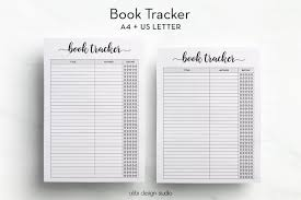 book tracker a4 printable books to read a4 inserts reading