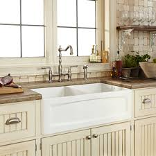 kitchen faucets for farmhouse sinks kitchen farm sink hillside 33 inch wide apron kitchen sink from dxv