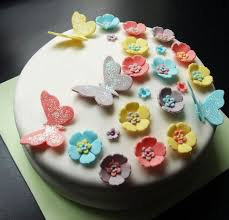 theme cakes flowers butterfly white theme cake fondant cakes in lahore