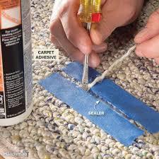 How To Install Laminate Flooring Next To Carpet How To Lay Carpet Squares Family Handyman