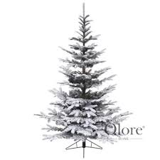 nobilis fir flocked 10ft artificial frosted tree