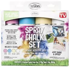 25 Unique Chalk Spray Paint by Amazon Com Testors 306006 Spray Chalk 4 Color Kit Home Improvement