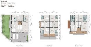 3 Storey Commercial Building Floor Plan Sunway Cassia Terrace Malaysia Properties Sunway Property