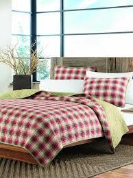 King Size Quilted Bedspreads Amazon Com Eddie Bauer Ravena Plaid 3 Piece Cotton Reversible