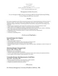 National Operations Manager Resume Best Outside Sales Representative Resume Example Livecareer Sales