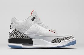 color white air jordan 3