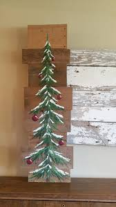 wooden pine tree wall pine tree reclaimed wood pallet winter snow