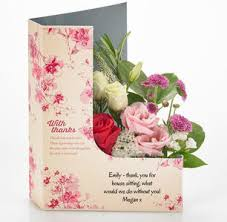 thank you flowers personalised thank you cards flowers gifts flowercard
