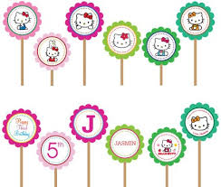 hello cupcake toppers hello printable diy custom cupcake toppers www etsy flickr