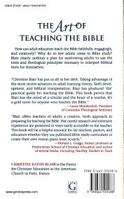 the art of teaching the bible a practical guide for adults