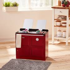 teamson kids traditional farmhouse range cooker red u2013 our time toys