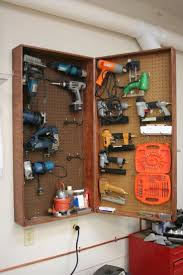 power tool cabinet 14 power tool storage ideas so you never lose