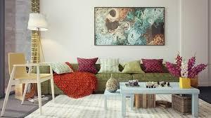 canapé coussins décoration de salon idées avec coussins tableaux et rideaux