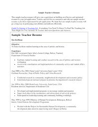 Resume Samples For Teachers Job by Resume Writing For Teaching Job Free Resume Example And Writing