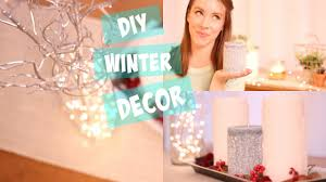 diy winter decor easy ideas for home room decor youtube