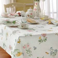 Oblong Table Cloth Lenox Tablecloths Butterfly Meadow Tablecloths