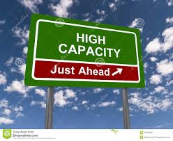 high capacity sign stock photo image 53501808