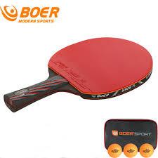 professional table tennis racket boer 2017 new professional table tennis racket wood handle ping pong