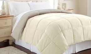 all seasons down alternative reversible comforters groupon