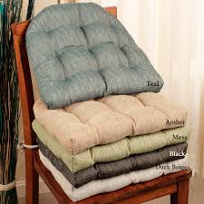 dining room chair pillows handsome woven tweed reversible chair cushions house ideas