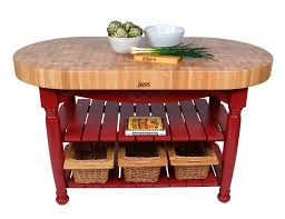 Kitchen Island Boos John Boos Harvest Table Oval Butcher Block Island