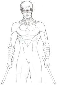 nightwing coloring pages 10556