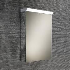 hib flux spectrum led illuminated mirror cabinet with mirrored