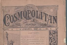 cosmopolitan title the very first issue of cosmo magazine u2013from 1887 project inspired