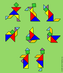 tangram puzzle tangrams the solutions to all the figures are shown in the