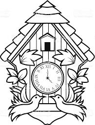 ornamental cuckoo clock stock vector art 482364255 istock