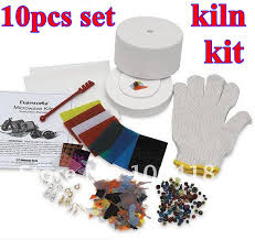 10 items in 1 set microwave small kiln kit for fusing glass 2018