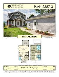 Two Story House Plans by Plan 2387 3 The Lakeside House Plans 2 Story House Plan
