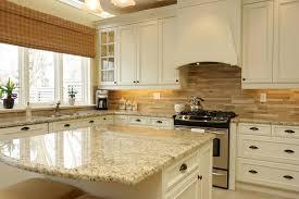 kitchen cabinets with light granite countertops santa cecilia granite white cabinet backsplash ideas