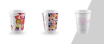 plain paper coffee cup designs typography designhandwritten