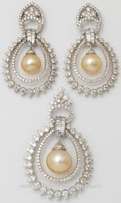 diamond pearl necklace images Delicate diamond pearl pendant set buy innovative pearl diamond jpg