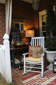 Fall Patio A Southern Front Porch Dressed For Fall The Everyday Home