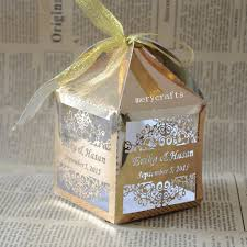 Wedding Gift Gold Personalized Gold U0026silver Wedding Party Favors Gift Box Event