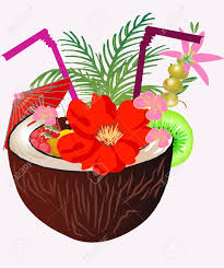 tropical cocktail silhouette coconut clipart tropical drink pencil and in color coconut