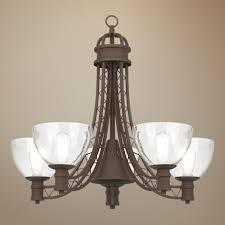 industrial halogen light fixtures industrial lattice truss 26 1 2 wide bronze chandelier 5x60w