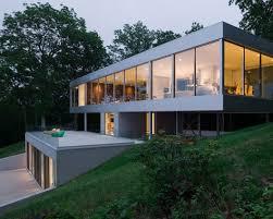 Modern Hillside House Plans Modern Slope House By Melbourne Australia Architect Leon Meyer