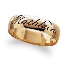 wedding rings with names gold wedding rings gold wedding bands engraved