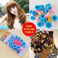 easy curling wand for permed hair 1set 24pcs magic wavy roll hairstyle random wheels perm hair