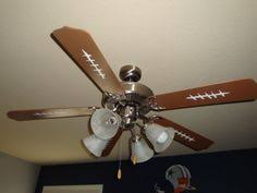sports themed ceiling fans shop hunter 44 in baseball leather look sports ceiling fan with