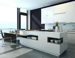 remarkable modern island kitchen in upscale house with breakfast