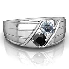 aquamarine and black onyx art deco men u0027s ring r0460 waqon
