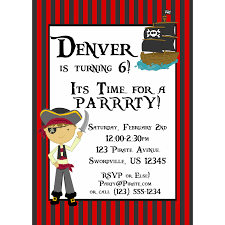 ice skating birthday party invitations pirate invitation red and black striped pirate boy and